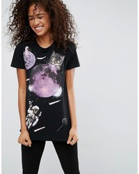 Asos T Shirt With Space Cat Print