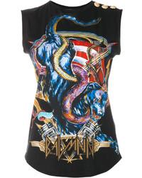 Balmain Heavy Metal Print Tank Top