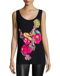 Versace Ladies Scoop Neck Printed Ta