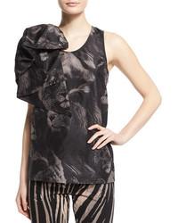 Scoop neck lion print tank wbow black pattern medium 694629