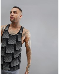 ASOS 4505 Vest With Extremer Racer Back And All Over Reflective Print