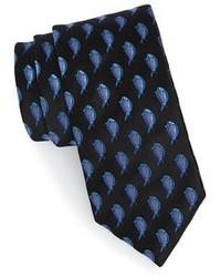 Black Print Tie