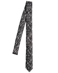Saint Laurent 4cm Raindrop Printed Silk Tie