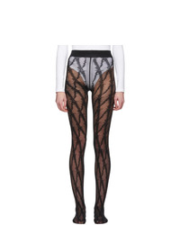 Versace Black V Pattern Tights