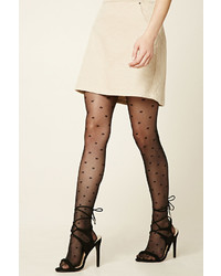 Forever 21 Bow Print Tights
