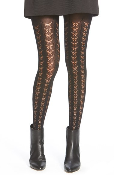 Kensie Butterfly Pattern Open Knit Tights Where To Buy How To Wear