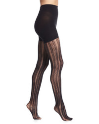 Spanx Case In Pointelle Patterned Tights Very Black