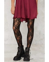 Factory Lace Study Floral Tights