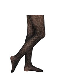 Journee Collection Juniors Circle Pattern Fishnet Tights