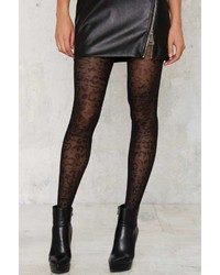 Factory Leopard Knock Life Sheer Tights