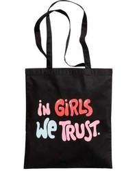 H&M Tote Bag With Printed Design
