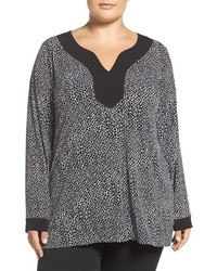 MICHAEL Michael Kors Plus Size Michl Michl Kors Graphic Scale Print Border Tunic