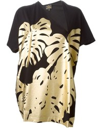 Vivienne Westwood Anglomania Leaf Print T Shirt