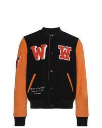 Black Print Varsity Jacket