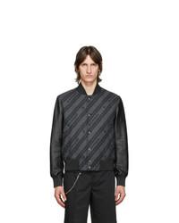 Givenchy Black Chain Bomber Jacket