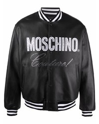 Moschino Couture Crystal Embellished Bomber Jacket