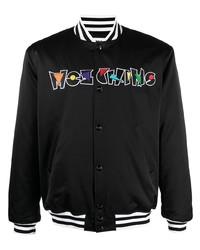 Moschino Logo Embroidered Bomber Jacket