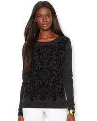 Lauren Ralph Lauren Lauren Jeans Co Damask Fleece Sweatshirt