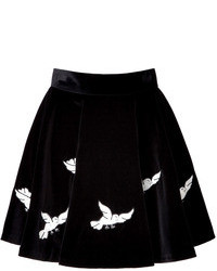Olympia le tan embroidered velvet zancig skirt medium 75884