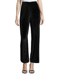 Velvet snakeskin print high waist pants black medium 848939