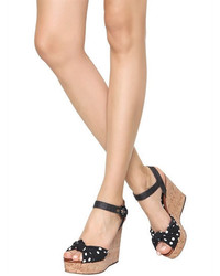 Dolce & Gabbana 112mm Keira Cady Raffia Wedge Sandals