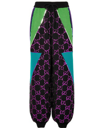 Gucci Sequined Wool Track Pants