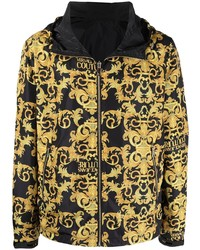 VERSACE JEANS COUTURE Baroque Print Hooded Windbreaker