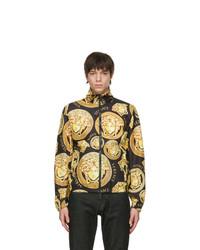 Versace Black And Gold Medusa Track Jacket