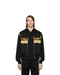 Versace Black Barocco Track Jacket