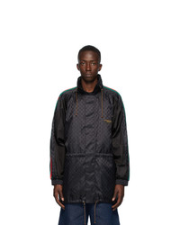 Gucci Black Jacquard Gg Windbreaker Jacket