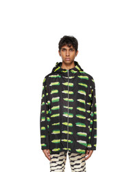 Dries Van Noten Black Len Lye Edition Graphic Jacket