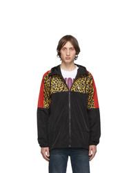 Marcelo Burlon County of Milan Black Leopard Windbreaker Jacket