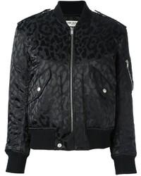 Saint laurent leopard print bomber jacket medium 803674