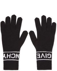Givenchy Intarsia Wool Gloves Black