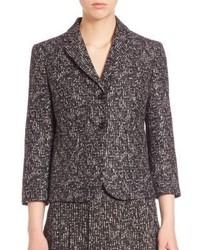 Michael Kors Michl Kors Collection Printed Wool Jacket