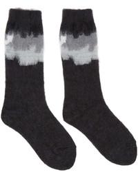 Facetasm Black Intarsia Socks