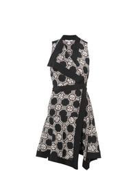 Black Print Wrap Dress