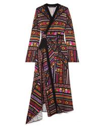 Etro Wrap Effect Printed Midi Dress