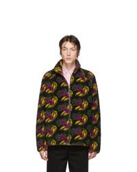 Acne Studios Black Sherpa Fruit Sweater