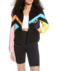Fila Hadley Colorblock Velour Crop Jacket