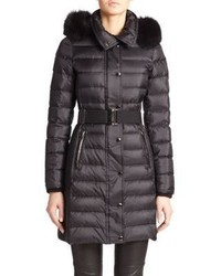 Burberry Abbeydale Fur Trimmed Puffer Coat