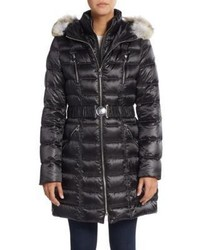 Dawn Levy Alicia Fur Trimmed Down Puffer Coat