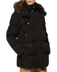 Marc New York Belmont Water Resistant Hooded Down Feather Fill Coat With Faux