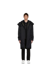 Mr and Mrs Italy Black Cotton Deerskin Coat