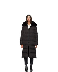 Yves Salomon Army Black Down And Fur Technical Doudoune Jacket
