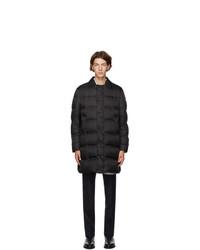 Thom Browne Black Down Bal Collar Overcoat