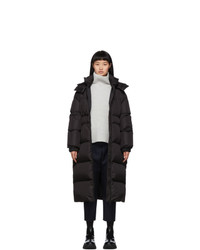 Moncler Black Down Danubelong Coat