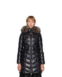 Moncler Black Down Fulmarus Coat
