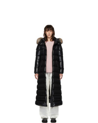 Moncler Black Down Hudson Long Coat