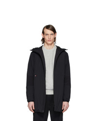 Moncler Black Down Kanin Coat